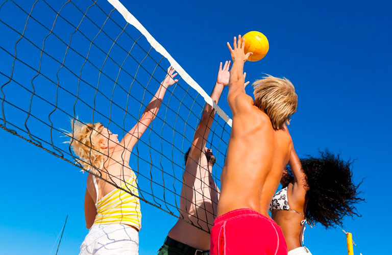 Multifunctional playground for volleyball and mini football HVD Viva Club Hotel